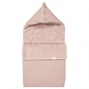 Koeka Fußsack 0+ Plüsch Oslo grey pink