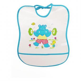 Sunnybaby Lätzchen Folie mit Krümelfach Hippo blau