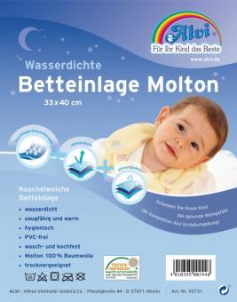 Alvi wasserdichte Betteinlage Molton 70x140