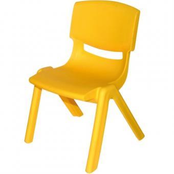 Bieco Kunststoff Stapel Stuhl gelb