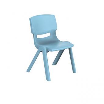 Bieco Kunststoff Stapel Stuhl trendblau