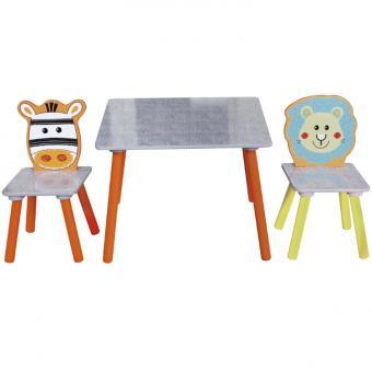 Bieco Sitzgruppe Tisch/Stuhl (2) safari