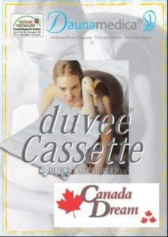 ARO 135x200 Duvee Kassette 4x6 Daunenbett canadische Gänsedaune