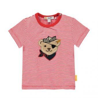 Steiff T-Shirt rot Ringel 80